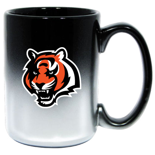The Memory Company NFL Cincinnati Bengals Chrome Mug Black 15 oz