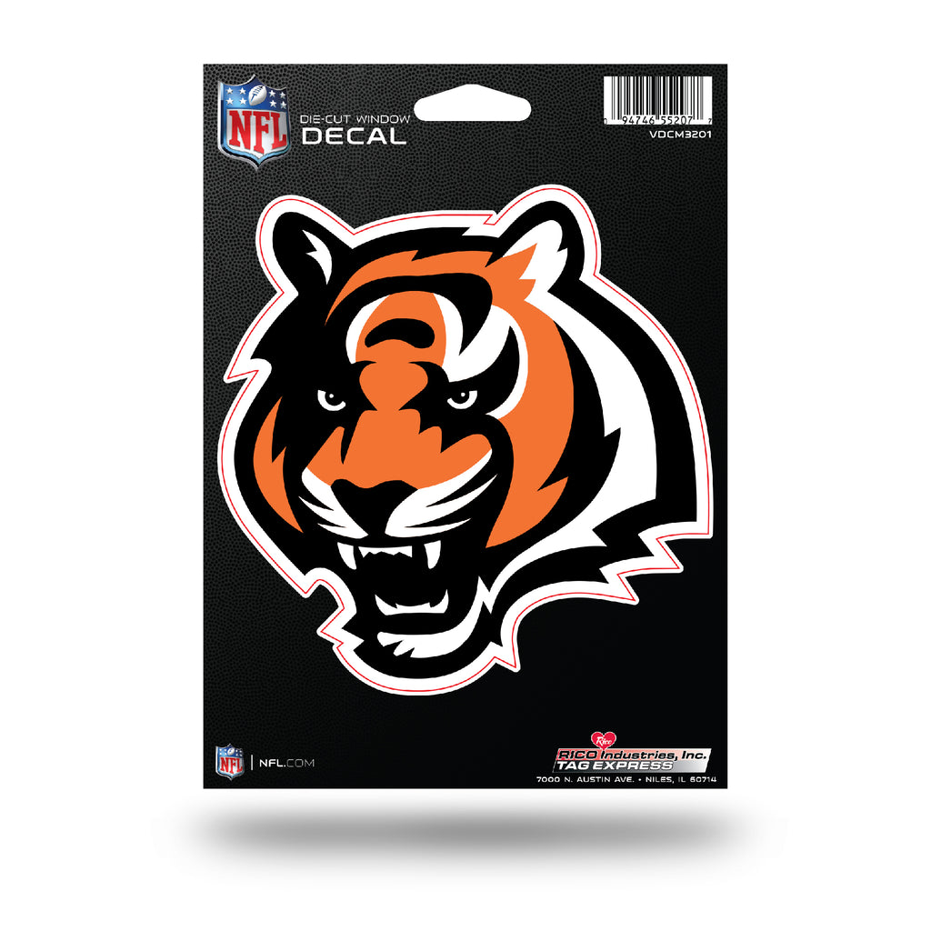 Rico NFL Cincinnati Bengals Die Cut Auto Decal Car Sticker Medium VDCM