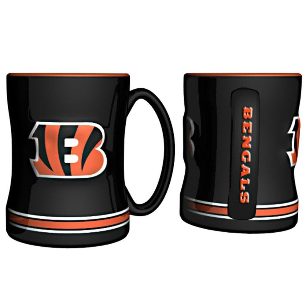 Boelter NFL Cincinnati Bengals Sculpted Relief Mug Team Color 14oz