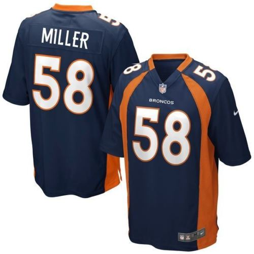 Nike NFL Men's #58 Von Miller Denver Broncos Alternate Game Jersey