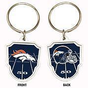 Great American Products NFL Denver Broncos Team Logo Keychain Steel