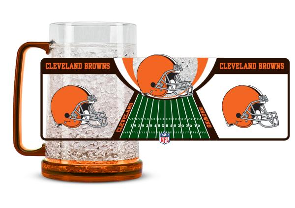 Duck House NFL Cleveland Browns Crystal Freezer Fun Mug
