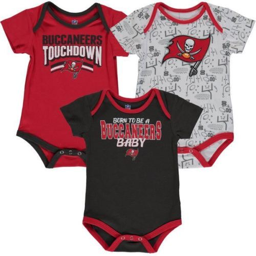 quality design 9e4c6 ff901 Outerstuff NFL Tampa Bay Buccaneers Infant Playmaker 3-Piece Creeper Set