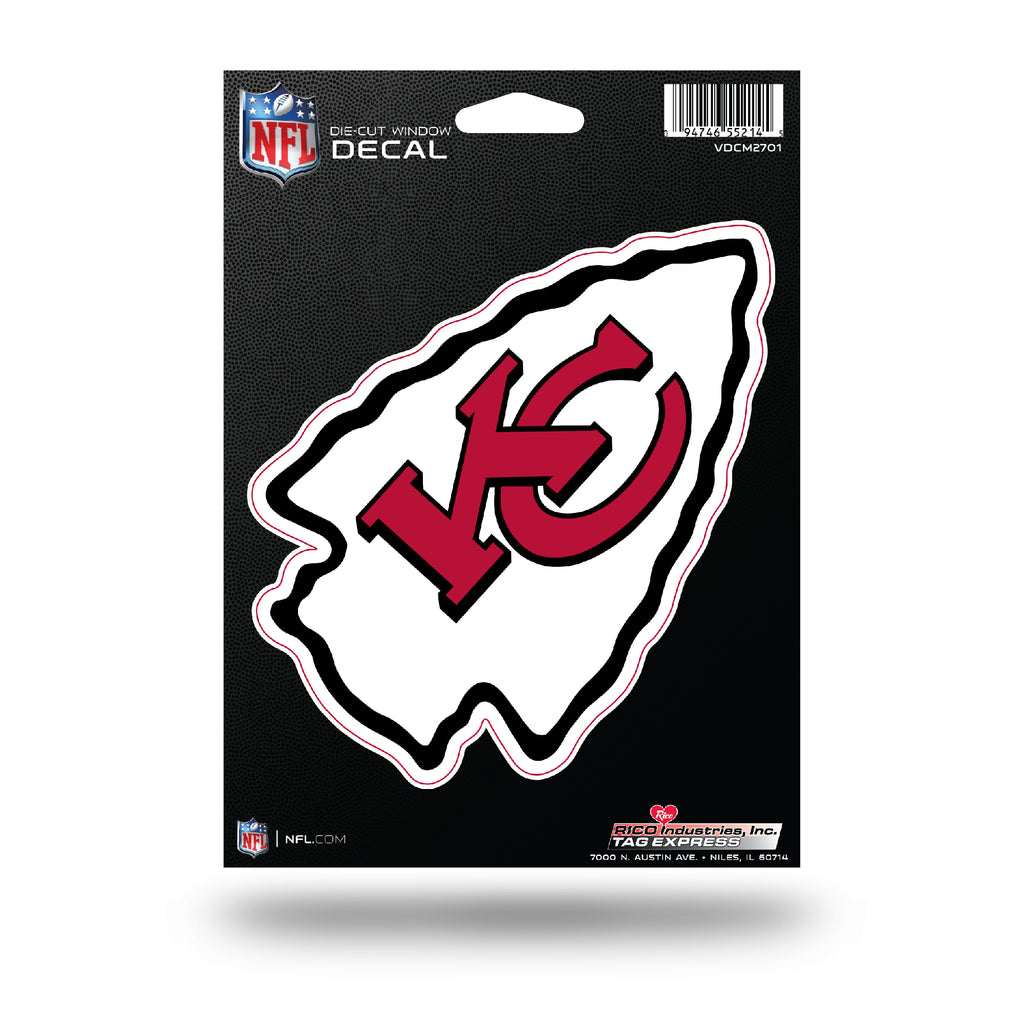 Rico NFL Kansas City Chiefs Die Cut Auto Decal Car Sticker Medium VDCM