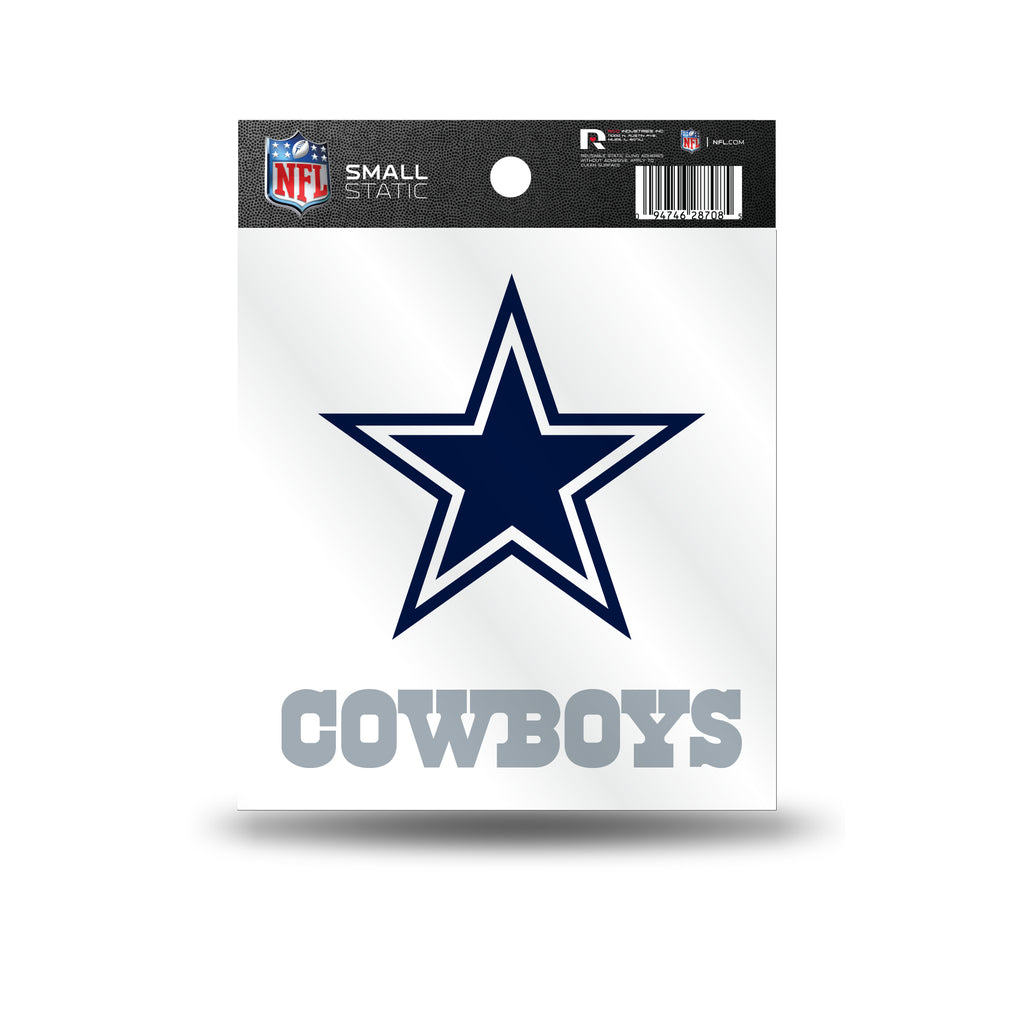 Rico NFL Dallas Cowboys Logo Static Cling Auto Decal Car Sticker Small SS