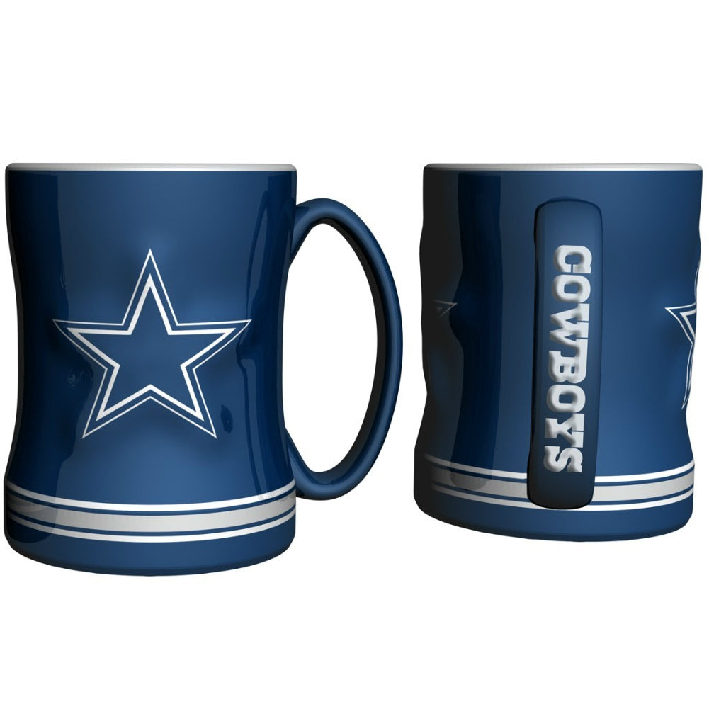 Boelter NFL Dallas Cowboys Sculpted Relief Mug Team Color 14oz