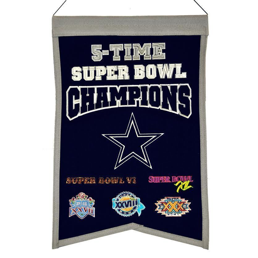 "Winning Streak NFL Dallas Cowboys Traditions Banner 14""x22"""