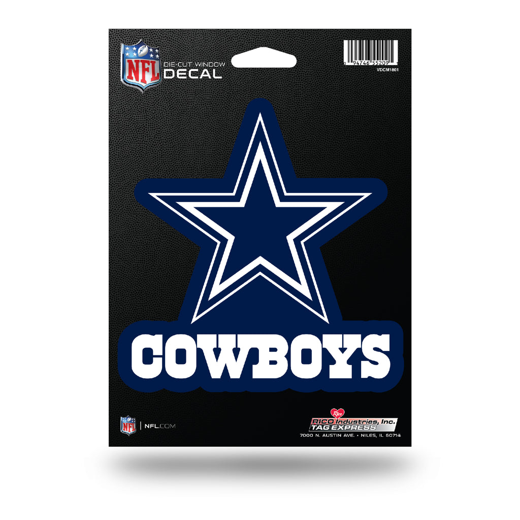 Rico NFL Dallas Cowboys Die Cut Auto Decal Car Sticker Medium VDCM
