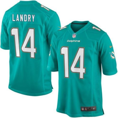 Nike NFL Men's #14 Jarvis Landry Miami Dolphins Game Jersey