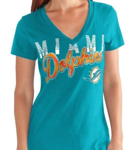 G-III NFL Women's Miami Dolphins 1st Down V-Neck T-Shirt