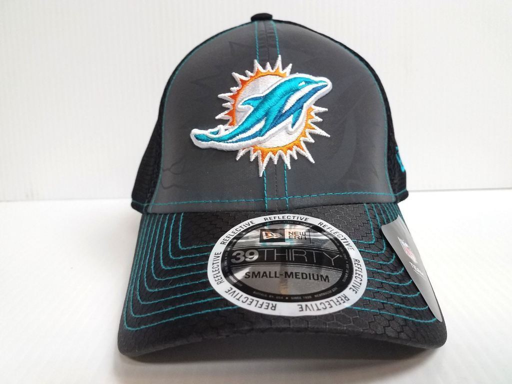 New Era NFL Miami Dolphins Flashed Front Neo 2 39THIRTY Fitted Hat