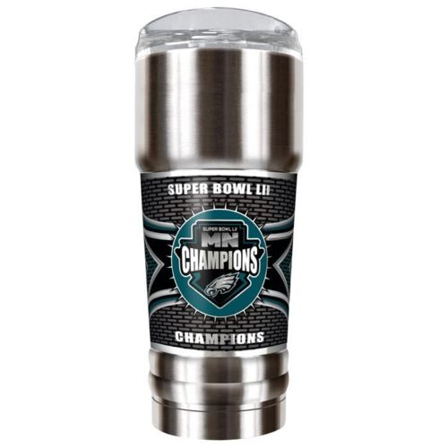 Great American Products NFL Philadelphia Eagles Super Bowl LII Champions The Pro w/Metallic Graphics Vacuum Insulated Stainless Steel Tumbler 32oz.