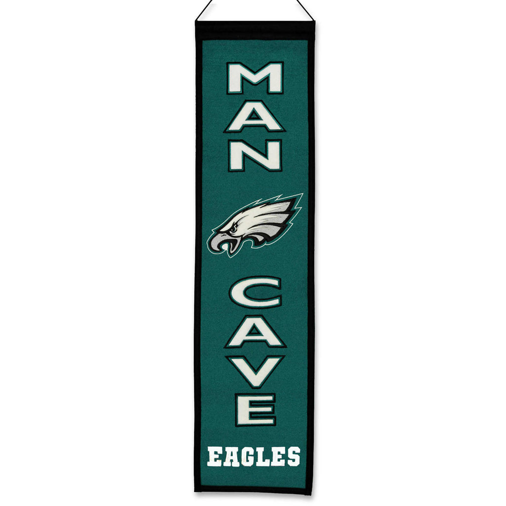 "Winning Streak NFL Philadelphia Eagles Man Cave Wool Banner 8""x32"""