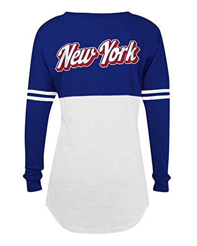 5th & Ocean NFL Women's New York Giants Varsity Long Sleeve T-Shirt