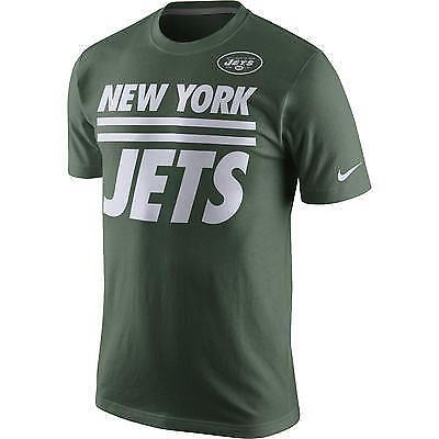 Nike NFL Men's New York Jets Team Stripe Big Logo T-Shirt