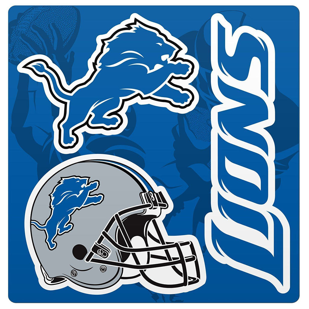 Forever Collectibles NFL Detroit Lions Multi Magnet Sheet 12""
