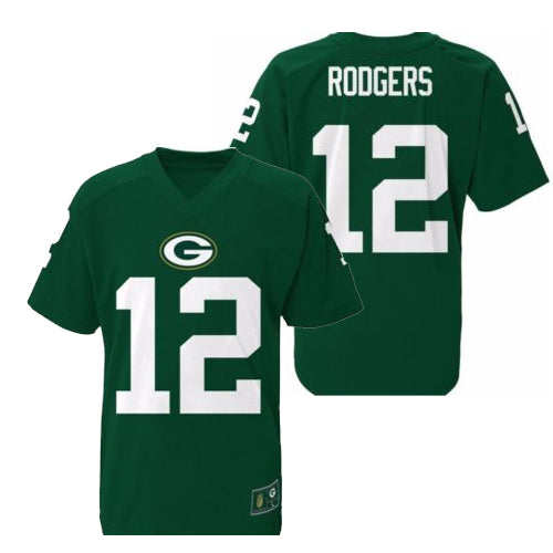 0c4cd7cfd59 Outerstuff NFL Youth Aaron Rodgers Green Bay Packers Player Performance Name  and Number T-Shirt
