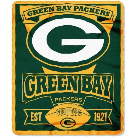 The Northwest Company NFL Green Bay Packers Marque Printed Fleece Throw