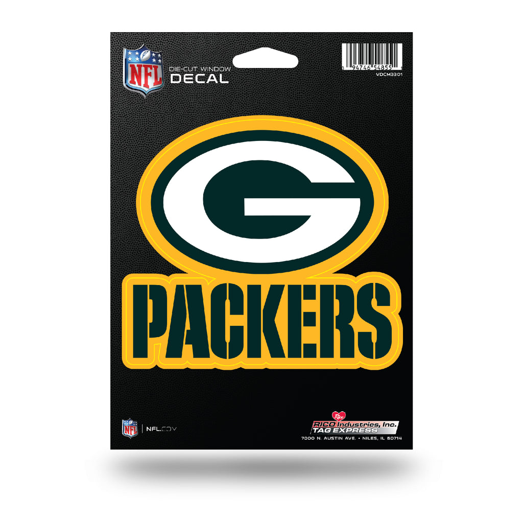 Rico NFL Green Bay Packers Die Cut Auto Decal Car Sticker Medium VDCM