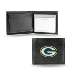 Rico NFL Green Bay Packers Embroidered Billfold Genuine Leather Wallet