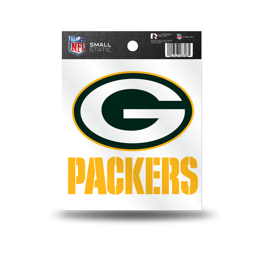 Rico NFL Green Bay Packers Logo Static Cling Auto Decal Car Sticker Small SS