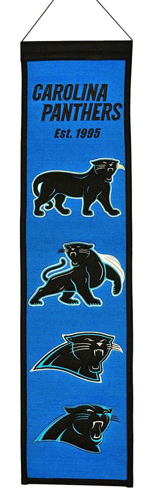 "Winning Streak NFL Carolina Panthers Heritage Banner 8""x32"""