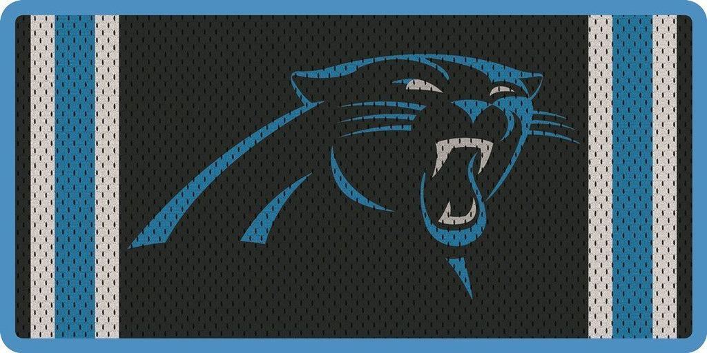 Stockdale NFL Carolina Panthers Mesh Jersey Deluxe Laser Cut Auto License Plate Tag