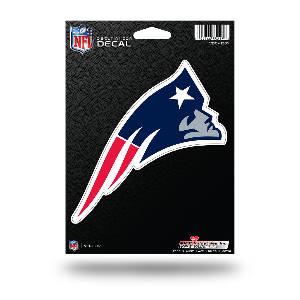 Rico NFL New England Patriots Die Cut Auto Decal Car Sticker Medium VDCM