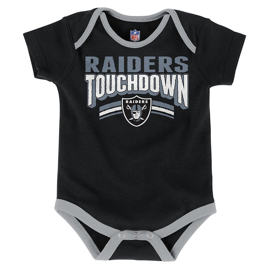 fdb5a87f0 ... Outerstuff NFL Oakland Raiders Infant Playmaker 3-Piece Creeper Set ...