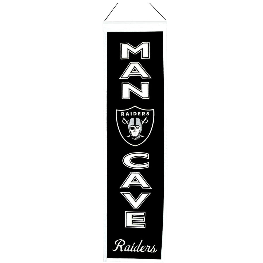 "Winning Streak NFL Oakland Raiders Man Cave Wool Banner 8""x32"""