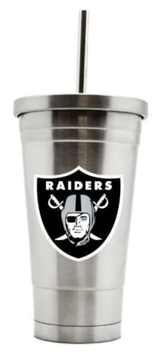 Duck House NFL Oakland Raiders Stainless Steel Straw Tumbler 17 oz