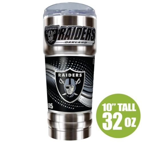 Great American Products NFL Oakland Raiders PRO Tumbler with Emblem Silver 32 oz