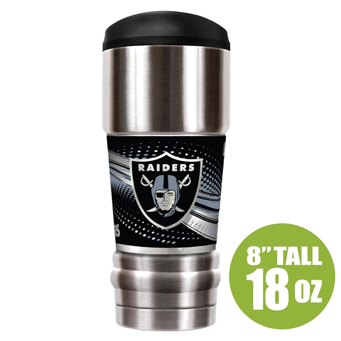 Great American Products NFL Oakland Raiders The MVP Insulated Tumbler Stainless Steel 18oz