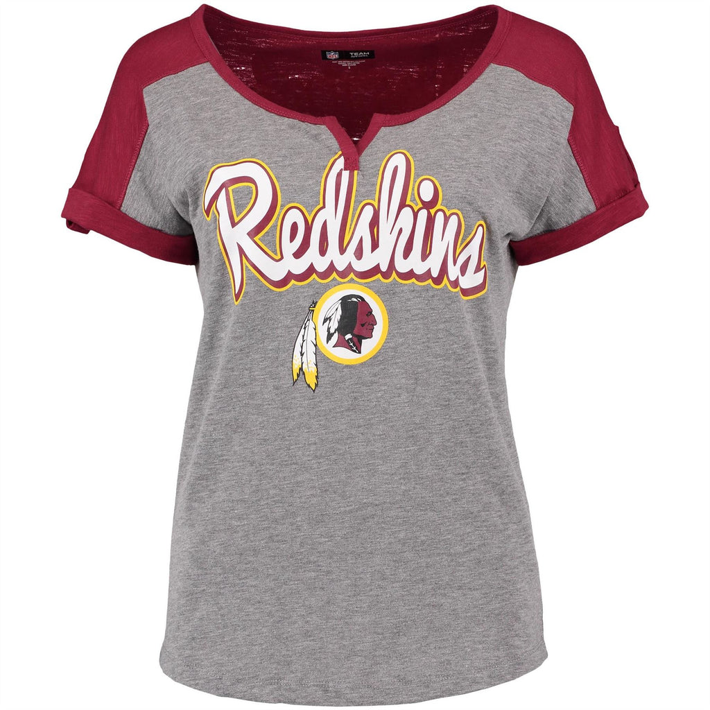 5th & Ocean NFL Women's Washington Redskins Slub V-Notch Scoop T-Shirt