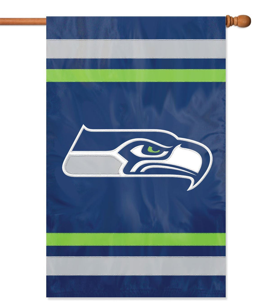 Party Animal NFL Seattle Seahawks 28 x 44 House Banner Flag