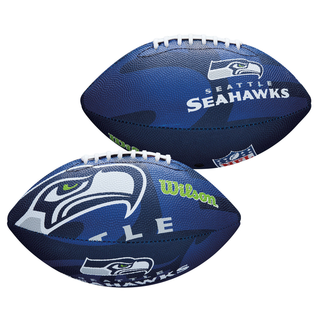 Wilson NFL Seattle Seahawks All Team Logo Junior Football All Weather 11 Inch
