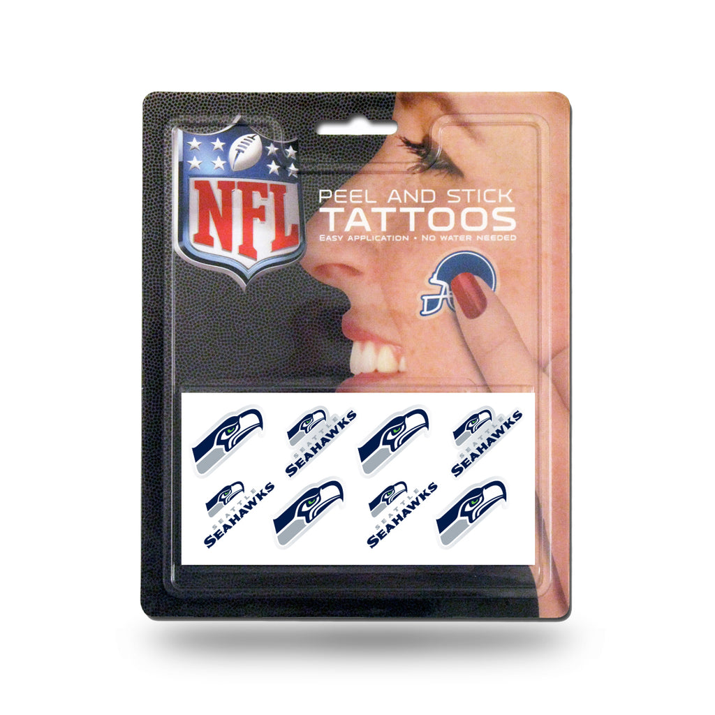 Rico NFL Seattle Seahawks Peel & Stick Tattoos 8 Piece Set TAT