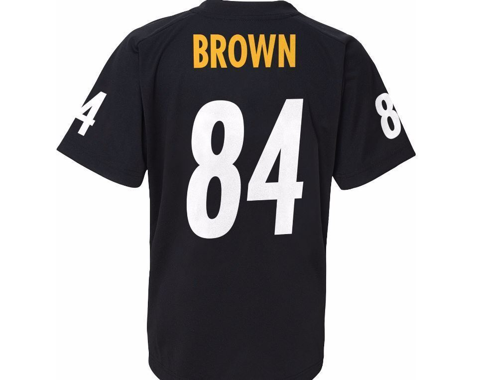 Outerstuff NFL Youth Antonio Brown Pittsburgh Steelers T-Shirt Player Performance Name and Number T-Shirt