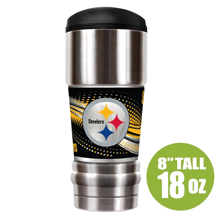 Great American Products NFL Pittsburgh Steelers The MVP Insulated Tumbler Stainless Steel 18oz