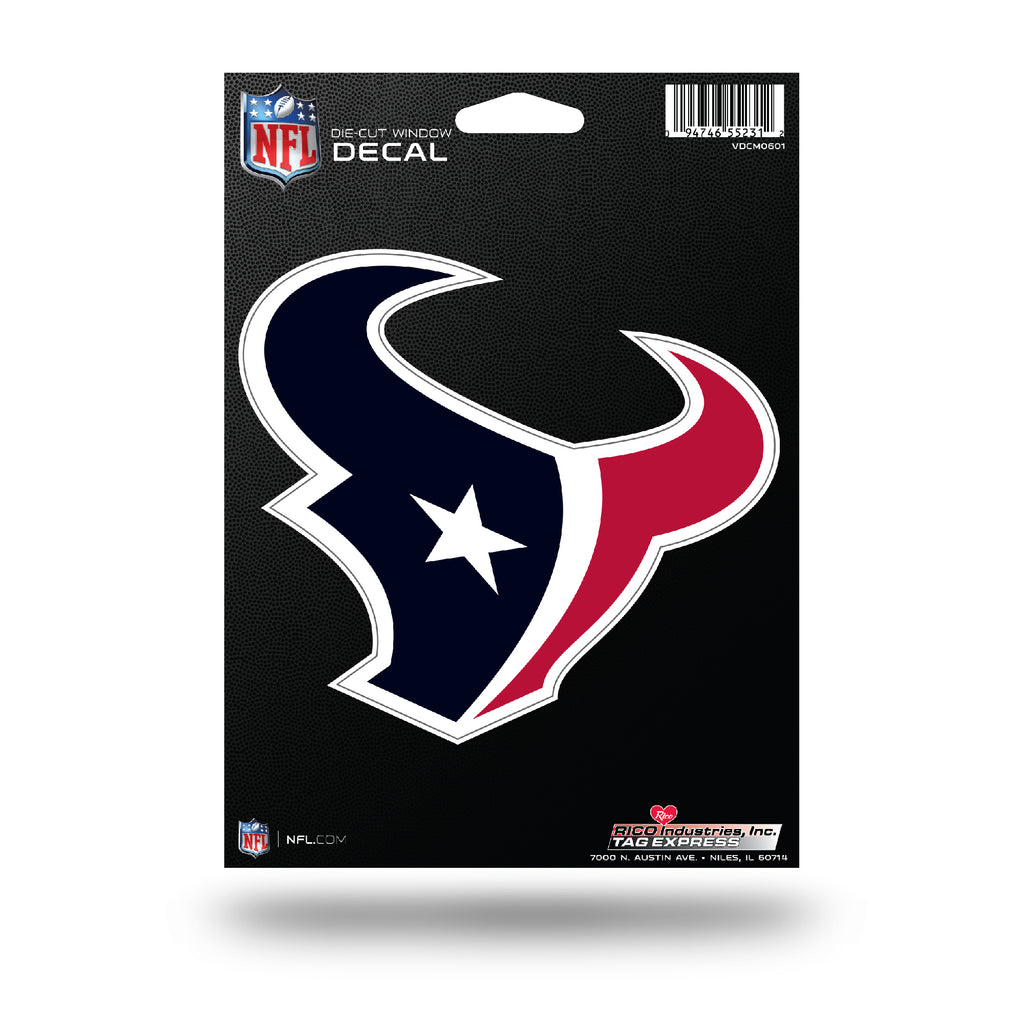 Rico NFL Houston Texans Die Cut Auto Decal Car Sticker Medium VDCM