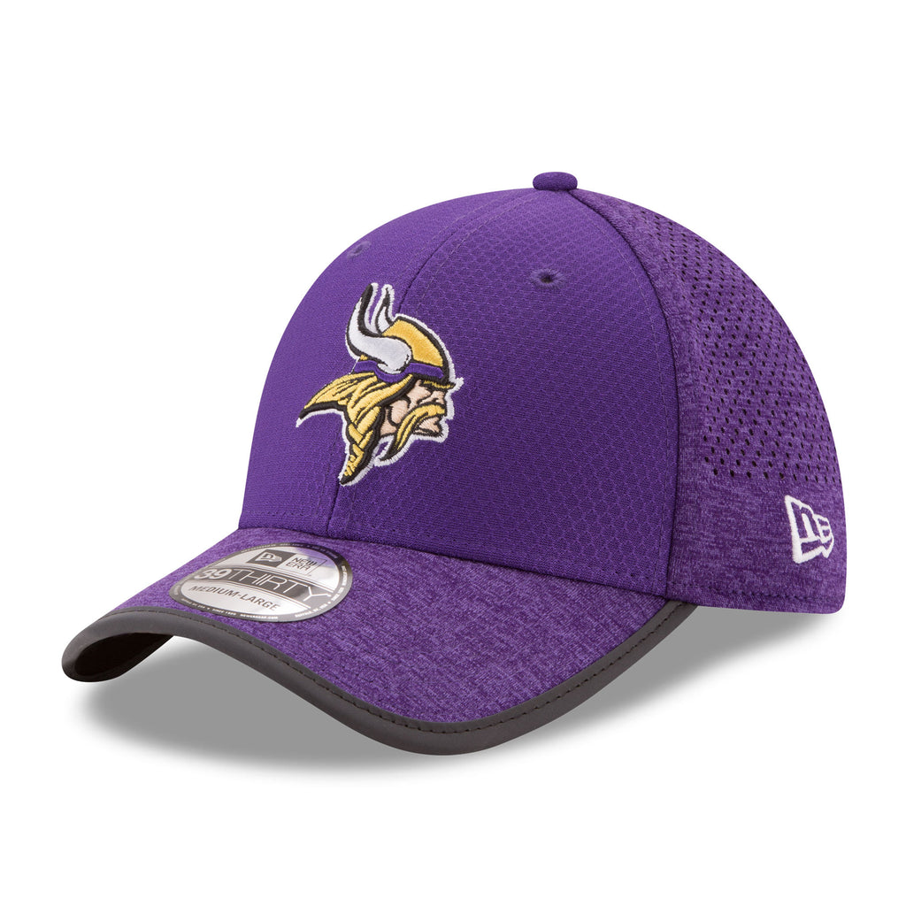 New Era NFL Men's Minnesota Vikings Official 2017 Training Camp 39THIRTY Flex Fitted Hat