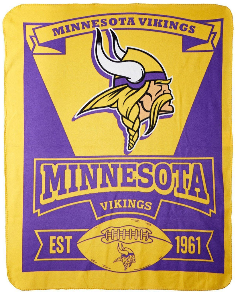 The Northwest Company NFL Minnesota Vikings Marque Printed Fleece Throw
