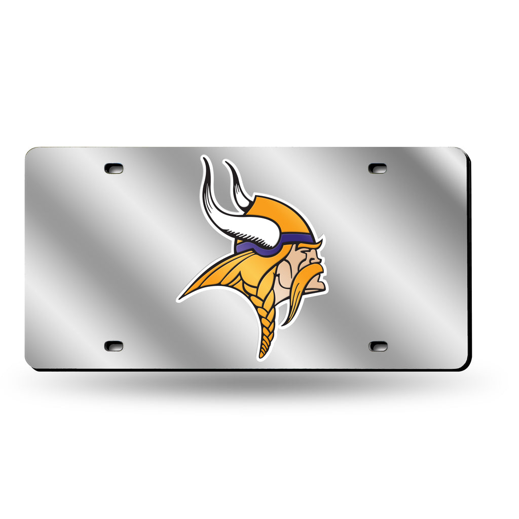 Rico NFL Minnesota Vikings Laser Cut Mirror Auto Tag Car License Plate LZS