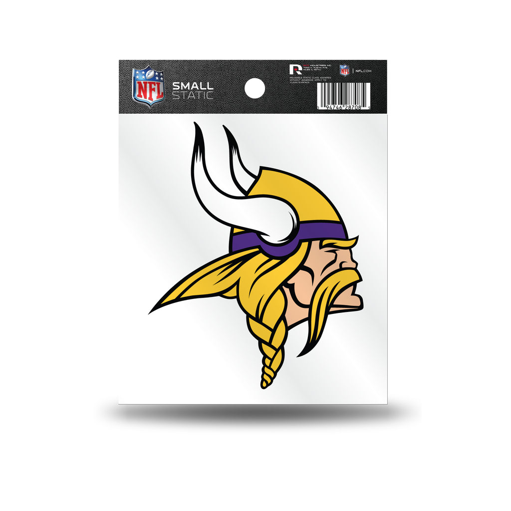Rico NFL Minnesota Vikings Logo Static Cling Auto Decal Car Sticker Small SS