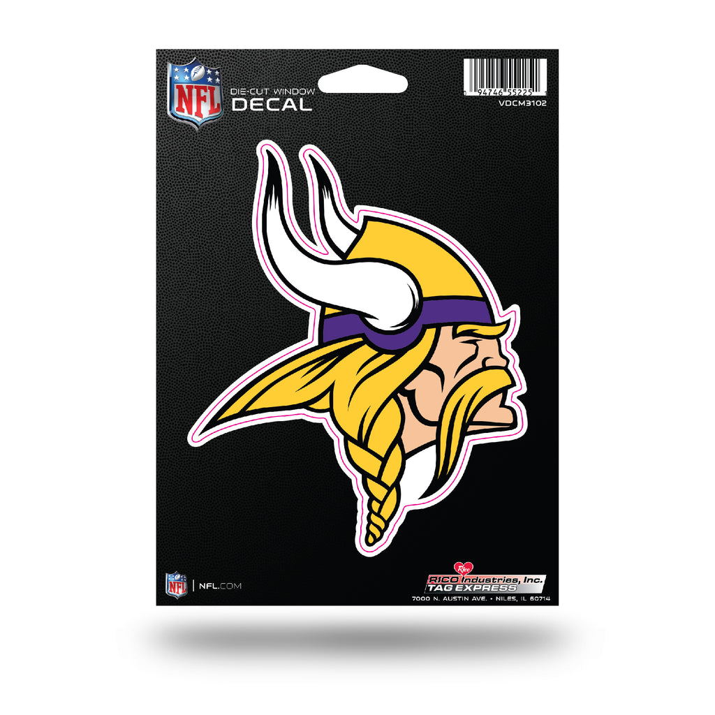 Rico NFL Minnesota Vikings Die Cut Auto Decal Car Sticker Medium VDCM