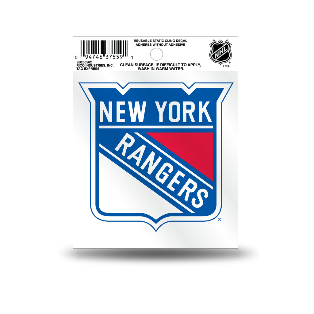 Rico NHL New York Rangers Logo Static Cling Auto Decal Car Sticker Small SS