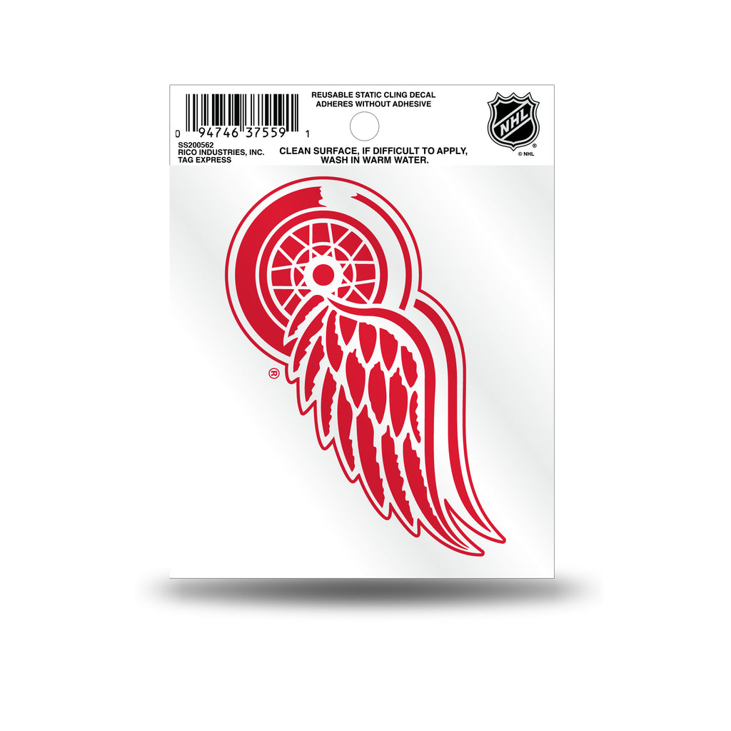 Rico NHL Detroit Red Wings Logo Static Cling Auto Decal Car Sticker Small SS