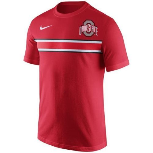 Nike NCAA Men's Ohio State Buckeyes Team Stripe T-Shirt