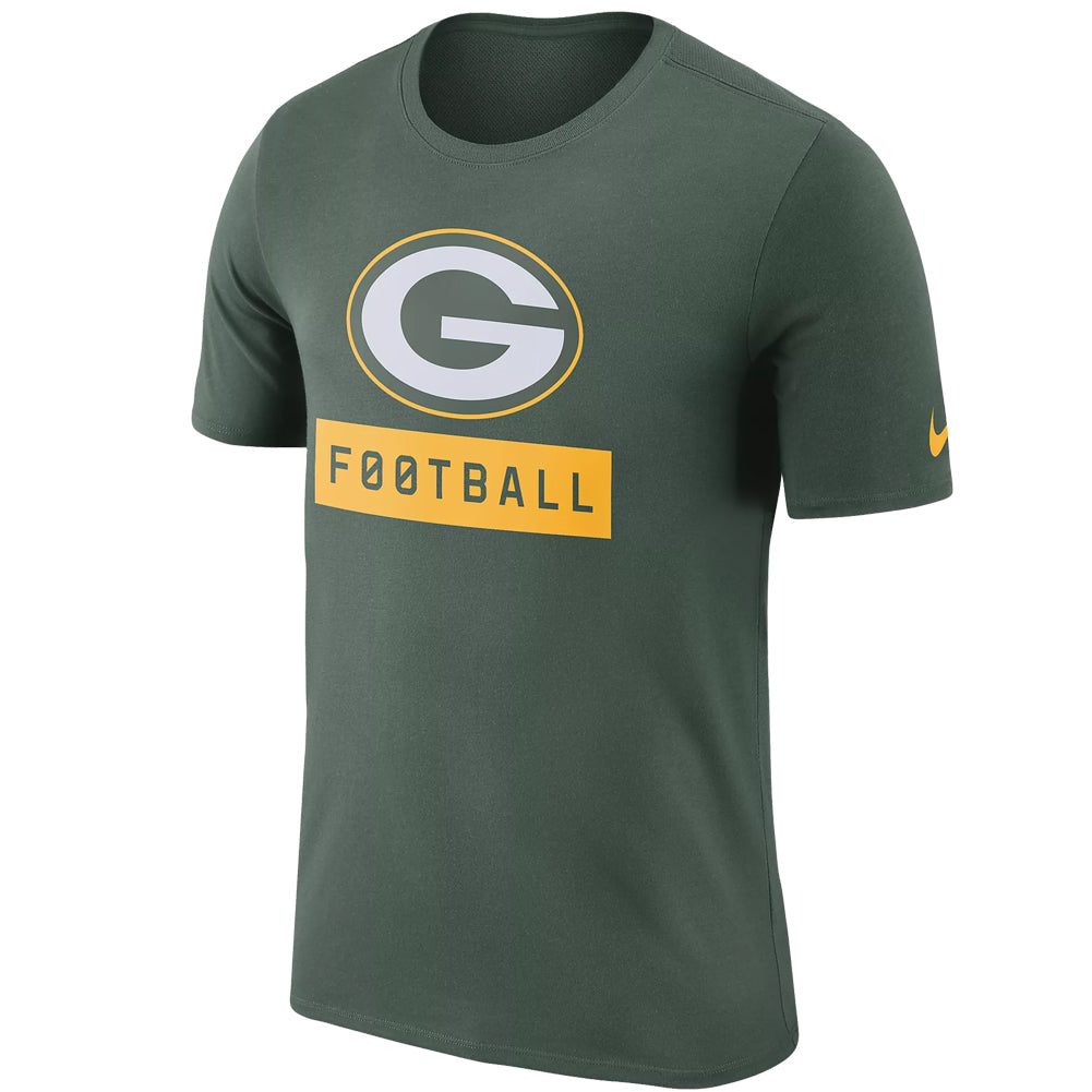 47a0c8bdc Nike NFL Men's Green Bay Packers Dri-Fit Football Logo T-Shirt