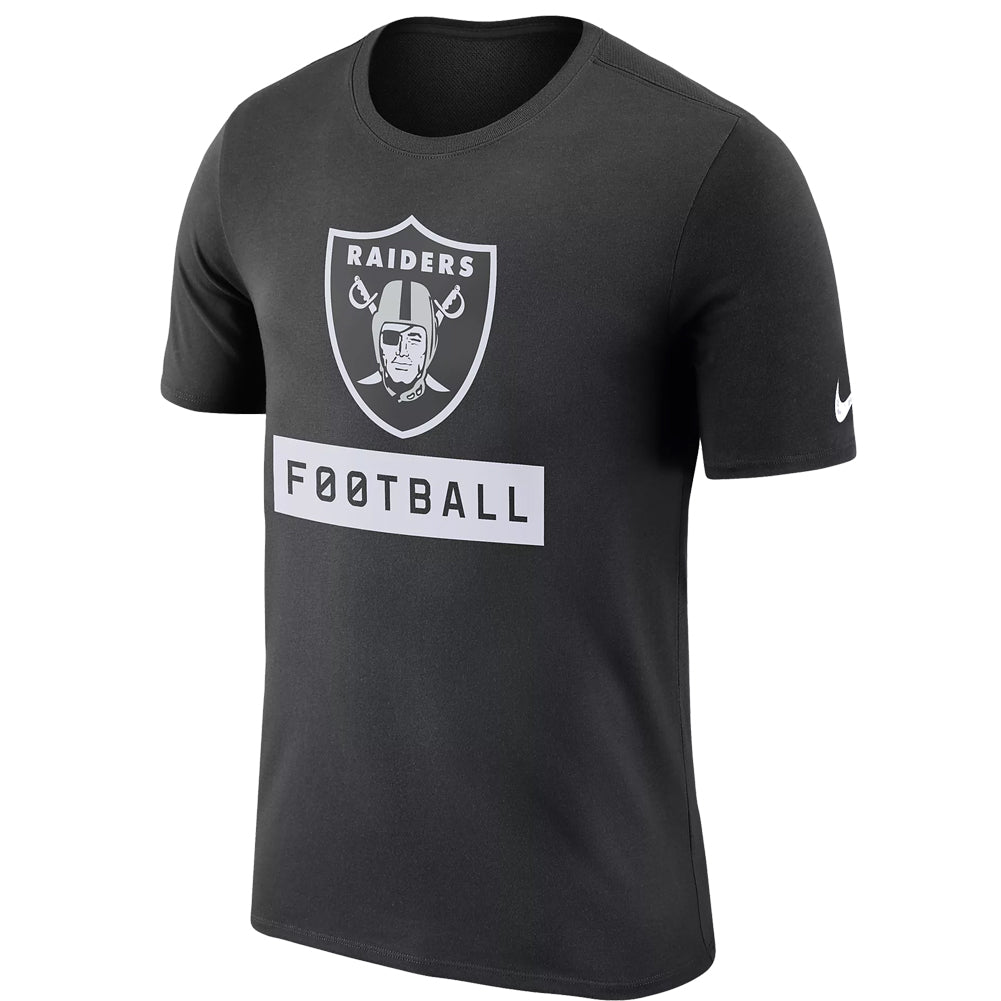 Nike NFL Men's Oakland Raiders Dri-Fit Football Logo T-Shirt